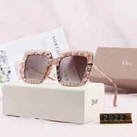 neue angekommene sonnenbrille großhandel-Luxus Sonnenbrille Designer Sonnenbrille Modemarke Designer Brille für Frau Brille UV400 5 Farbe Neu Kommen mit Box Hohe Qualität 2922