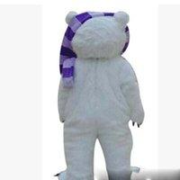kutup ayısı kostümleri toptan satış-Cadılar bayramı Zombi ayı Maskot Kostüm Yüksek Kalite Karikatür eşarp Polar bear Anime tema karakter Noel Karnaval Parti Kostümleri