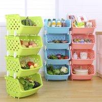 хранение фруктовых овощных корзин оптовых-Наложенные корзины для хранения Кухонные корзины для фруктов и овощей Многофункциональная корзина для хранения Экономия места Укладка корзин для мусора