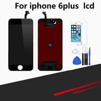 iphone lcd tamir seti toptan satış-IPhone 6 için uyumlu Artı Ekran Değiştirme 5.5 inç LCD Ekran Digitizer Çerçeve Meclisi Tam Tamir Kiti