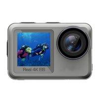 Wholesale camera anti shake waterproof resale online - 2020 New waterproof sports camera FS01A dual screen dive camera true K30fps anti shake Exquisite retail box