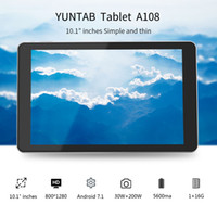 Wholesale tablet touchscreen for sale - Group buy Yuntab inch Android A108 Tablet PC Allwinner A64 Quad Core GB GB Touchscreen with Dual Camera Silver