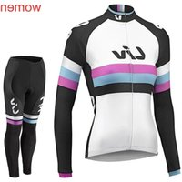 Wholesale long sleeve cycling jersey sale for sale - Group buy Liv Team Cycling Long Sleeves Jersey bib Pants Sets Cycling Jersey Sets Spring Autumn Sport Suit Hot Sale Bikes Clothes C1411