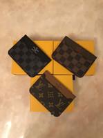 erkek pasaportu toptan satış-Mükemmel Kalite Cep Organizatör NM damier kırmızı erkekler ve kadınlar Gerçek deri pasaport cüzdan kart sahibinin N63144 çanta kimliği cüzdan bifold çanta