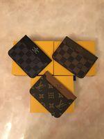ingrosso portafogli organizzatore per donne-Qualità eccellente Pocket Organizer NM damier rosso uomini e donne Portafogli passaporto in vera pelle titolare della carta N63144 borsa id portafoglio bifold borse
