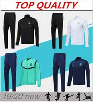 Wholesale futbol jacket resale online - 2019 Real Madrid Soccer tracksuit jacket camiseta de futbol KROOS ISCO BALE MODRIC HAZARD Football jacket Survetement chandal