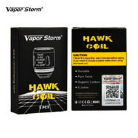 Wholesale packing cotton for sale - Original Vapor Storm Hawk Coils ohm Organic Cotton Durable Pure Taste Replacement Coils for Hawk Tank Pack E Cigarettes