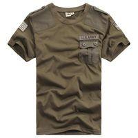 chemises gratuites de l'armée achat en gros de-Hommes T-shirts tactiques Soldat armée libre Fibre de bombardier Combat militaire Tops à manches courtes en coton T-shirt respirant à séchage rapide