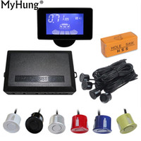 Wholesale human voice for sale - Group buy Auto Parktronic LCD Car Parking Sensors with Sensors Human Voice Reverse Backup Car Parking Radar Monitor Detector System