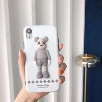 ingrosso porta gli orsi 3d-YunRT Nuovo 3D Limited Kaws Bear giocattolo Custodia morbida in silicone per iphone 6 S plus 7 7plus 8 8plus X XR XS MAX kaws anti-fall phone coque