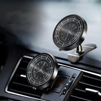 Wholesale car outlet phone holder online – Two Styles Car Dashboard Air Outlet Phone Holder Auto Clock Adjustable Universal Cell Phone Bracket Car Accessories