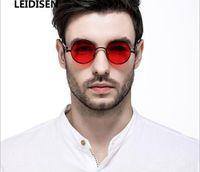 gafas de sol polarizadas circulares al por mayor-2019 Nuevas gafas europeas y americanas. Gafas de sol polarizadas circulares. Retro punk.