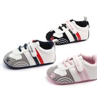 bébé garçon chaussures pre walker achat en gros de-Nouveau bébé Chaussures à semelle souple Enfants en cuir PU Première chaussures walker Nouveau-né filles garçons baskets Infant Pre Walker Chaussures de bébé