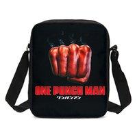 cartoon mensageiro sacos meninos venda por atacado-VEEVANV Messenger Bags Para Meninos Meninas Moda Harajuku Dos Desenhos Animados Anime One Punch Man Carta Impressão 3D Sacos Crossbody Sling