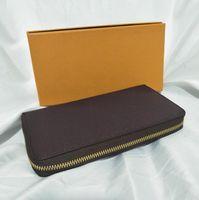 luxus damen geldbörsen großhandel-Luxus Herren hochwertige Brieftasche Mode Explosion Designer Damen Brieftasche Multicolor optional Kreditkarte Brieftaschen mit Box