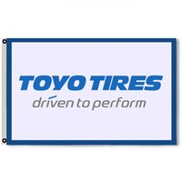 Wholesale tyre flags for sale - Group buy Toyo Tires Flag Banner Tyres Man Cave banner