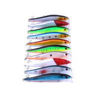 Wholesale minnow lure pike resale online - 100pcs g hard plastic minnow fishing lures wobble pike carp trout fishing baits isca pesca fishing tackles