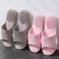 Wholesale hot massaging slippers for sale - Group buy Men s Summer Indoor Bathroom Slippers Home Health Foot Massage Slippers Male Grey Sandals Men Slides Beach Flip Flops Shoes Hot