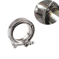 kits de tubos de escape venda por atacado-Braçadeira da flange da V-Banda de SS304 de aço inoxidável M / F faixa de 3 v Car Turbo escape para baixo o jogo da tubulação 2