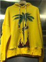 büyük kapüşonlu erkekler toptan satış-Yeni Hip Palmiye Melekler Hoodie Erkekler Kadınlar Pamuk Alien Dünyadışı sarı Büyük Harfler Palmiye Melekler Tişörtü Pullove 15 stil S-XL Hop