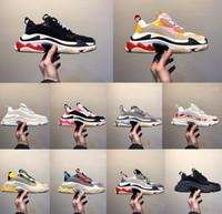 sapatos casuais de mulheres bege venda por atacado-2019 Moda-Paris Calçados Casuais 17FW Triple S Pai para Mulheres Dos Homens Bege Ceahp Preto Esportivo Designer Triplo S Sapatos Tamanho 36-45