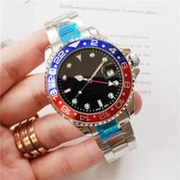 ingrosso orologi batman-Orologio da uomo all'ingrosso di lusso GMT movimento automatico in acciaio inossidabile Mechnical Pepsi Batman 42mm orologio da uomo design regalo orologio sportivo orologio