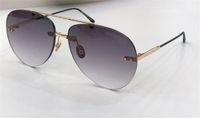 Wholesale women modeling sunglasses resale online - New fashion designer sunglasses s frameless pilots frame weave modeling sunglasses top quality protection eyewear