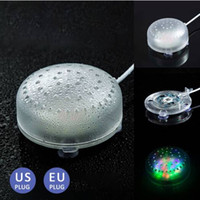 аквариумное освещение оптовых-Горячие продажи Бесплатная доставка Аквариум Fish Tank Подводный воздушный пузырь с многоцветной светодиодной подсветкой