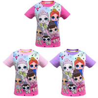 Wholesale sports t shirts purple resale online - Kids Surprise Girls Short Sleeve T shirt Summer Boys Girls Cartoon Sports T shirts Casual Tee Tops Costume Children s T shirt Clothes C433