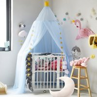 tendas de bebê meninas venda por atacado-Cortina da cama Pendurado Cúpula Do Bebê Mosquito Net Meninas Penduradas Mosquito Net Bed Tendas para Crianças Meninas Decoração do Quarto Dos Miúdos