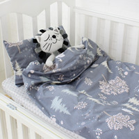 Wholesale baby girl crib bedding sets resale online - 3Pcs Cotton Crib Bed Linen Kit For Boy Girl Baby Bedding Set Includes Pillowcase Bed Sheet Duvet Cover Without Filler