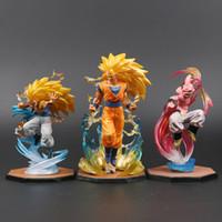 bola de dragão z majin buu venda por atacado-Majin Buu Goku Gotenks Pvc Figuras de Ação Tamashii Nations S.h. Figuarts Zero Super Saiyajin Coleção Modelo Dragon Ball Z Toy J190507