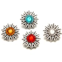 Wholesale oem jewelry for sale - Group buy Snap Jewelry Crystal Flower Metal MM Snap Buttons Fit DIY OEM Snap Bracelets For Women price