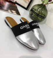 bayan düz terlik toptan satış-Yeni Moda kadın flats casual ayakkabı Bayanlar Deri terlik kadın eğlence sandalet D40142