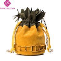 Wholesale dot string for sale - Pink sugao designer luxury handbags purses women crossbody bags new fashion bucket crossbody bag hot sales leather messenger bag color