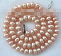 Wholesale pink freshwater cultured pearl necklace online - inch stunning mm round pink freshwater cultured pearl necklacE