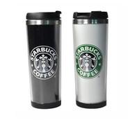 поездка из нержавеющей стали starbucks оптовых-Чашки Starbucks 14oz 420 мл Кружка из нержавеющей стали Гибкие чашки Кружки для кофе Кружка для чая Кружки для чая Чайные чашки