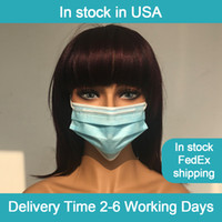 Wholesale 50pcs box OMC Large stock in Warehouse in USA Ply Non Woven Blue White Disposable Face Mask With Earloop