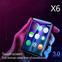 rádio x6 venda por atacado-X6 Ultra Fino Mini MP4 Presente MP3 Player Portátil 4 GB 8 GB de Vídeo Recarregável Em Tela Cheia de Rádio FM USB Cartão TF
