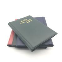 venta de libros de bolsillo al por mayor-World Coin Stock PVC 120 bolsillos Monederos Titulares 3 colores Colección Libro para regalos de fiesta Venta caliente 5 5ym E1