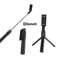 iphone tripod çubuğu toptan satış-2019 yeni 3 1 Kablosuz Bluetooth Özçekim Sopa Mini Tripod Uzatılabilir Monopod Evrensel Için Android IOS Için iphone