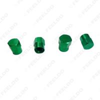 tapas de válvulas de neumáticos de metal al por mayor-venta al por mayor 4pcs / set Car Motorcycle Metal Tire Valve Stem Covers Caps 6 colores Color aleatorio # 5482