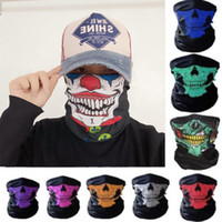 Wholesale skull full face ski mask for sale - Group buy New Outdoor Sports Ski Bike Motorcycle Scarves Bandana Neck Snood Skull Face Mask Halloween Party Cosplay Full Face Masks VT1530