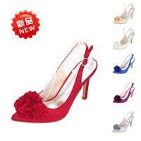 koreanische sexy schuhe großhandel-2018 Korean Fashion Spitz Frauen Schuhe Seide High Heels Schuhe Damen Süße Bogen Sexy Sandalen Frauen Hochzeit Schuhe
