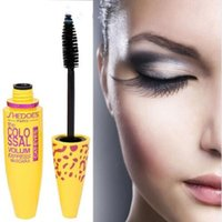 Wholesale mascara colossal resale online - Brand New Makeup Volume Express COLOSSAL Mascara With Collagen Cosmetic Extension Long Curling Waterproof Eyelash Black Dropshipping J0701