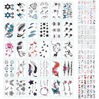 женские временные татуировки оптовых-150 шт блеск временные татуировки водонепроницаемые татуировки наклейки для взрослых татуировка боди-арт ручная роспись мужской и женский