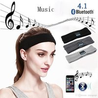 corriendo mp3 manos libres al por mayor-e247 Wireless Bluetooth Hat auricular Auricular Auricular Bluetooth Diadema corriendo Yoga Sweat Scarf juego de mp3 Manos libres para teléfono Cabeza deportiva