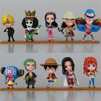 Wholesale one piece figure cartoon resale online - Luffy Zoro Sanji Hancock Figures Set One Piece Action figure PVC Anime Toys Japanese Cartoon wh D1