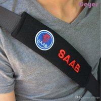ingrosso coperchio saab-Copertura cintura di sicurezza auto Accessori per automobili per Saab 9-3 9-5 9000 del rilievo di spalla della cintura di copertura Accessori auto Styling 2PCS / LOT