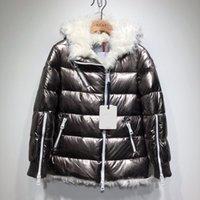 casaco de ovelha venda por atacado-Mulheres Moda Parkas Inverno Ladies Jacket Sheep Fur Duck Down Inside casaco quente Femme Long Coat gola do casaco capa de Down